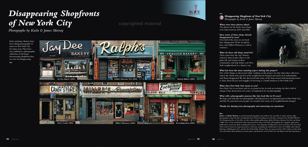 Disappearing Shopfronts of New York